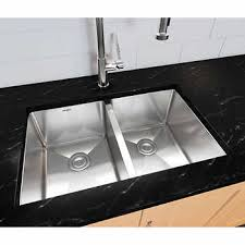 undermount double kitchen sink ancona prestige series 50 50 undermount double bowl sink