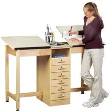 Drafting Table Storage Drafting Table With Storage Features Also 6 Drawers For