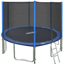 amazon com zupapa 15 14 12 ft tuv approved trampoline with
