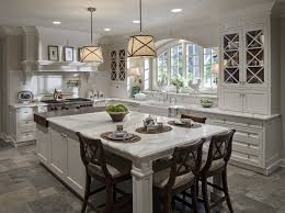 lovely white kitchen with grey countertops taste