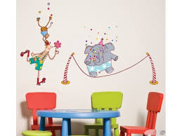 chambre cirque sticker chambre enfant le cirque ça jongle acte deco