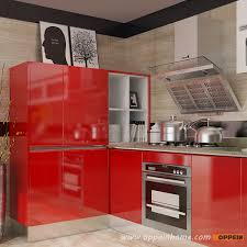Modular Kitchen Cabinets Red Modular Kitchen Design Oppeinhomecom - Red lacquer kitchen cabinets