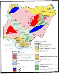 map of be map of nigeria showing the geology and fluoride rich areas