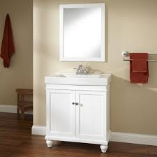 white freestanding vanity signature hardware