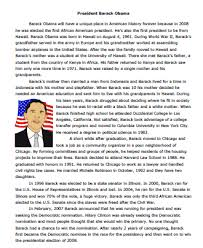 american president reading comprehension worksheet sample
