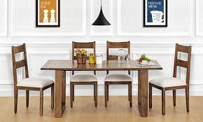 buy marlow 6 seater dining table veneer top online in india