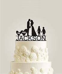 name cake toppers personalized family wedding cake topper with your last name girl