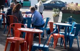Avengers Table And Chairs Vehicle Free Pedestrian Plaza In Laguna Beach Seen As Boon For