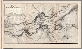 Yosemite Valley Map Map Of The Yosemite Valley David Rumsey Historical Map Collection