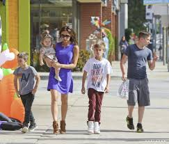 family halloween costumes for 5 the beckham family shops for halloween costumes popsugar
