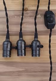 Pendant Light Cord Pearl Black Socket Pendant Light L Cord Kit W Dimmer