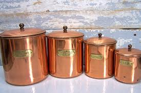 copper canisters kitchen small copper kitchen accessories quicua