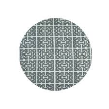 White Round Rug by 10 Ft
