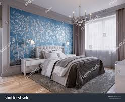 modern bedroom interior design classic elements stock illustration