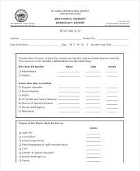 behavior incident report template 10 free pdf format download