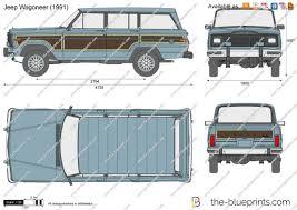 1987 jeep wagoneer the blueprints com vector drawing jeep wagoneer