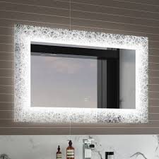 Mosaic Bathroom Mirrors by 600mmx900mm Galactic Designer Illuminated Led Mirror With Switch