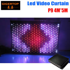 Video Backdrops P9 4m 5m Pc Mode Led Video Curtain Dj Stage Background With Online