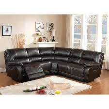 leather sectional sofa with recliner sofa power recliner regency brown top grain leather motorized power