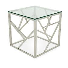silver side table uk silver malibu square coffee table funky furniture hire