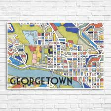 Georgetown Map Art Moderne Meets Mid Centery Mod The Georgetowner