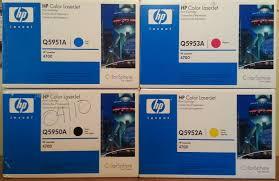 amazon com hp color laserjet 4700 toner cartridges 4 pack