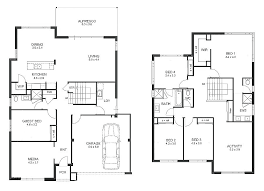 4 bedroom house floor plans floor plan for two storey house design two storey house plans free