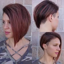 modern undercut hairstyle women u0027s modern sleek undercut asymmetrical bob with burgundy color