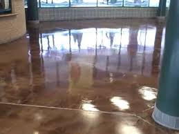coffee reflector epoxy floors at tulsa transit station by