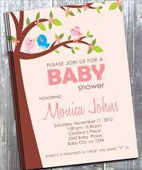 bird baby shower pink bird baby shower invitation