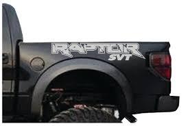 Ford F150 Truck Hats - ford f150 svt raptor 2 decal kit logo fits bedside