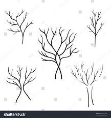 set outline sketch trees stock vector 355147340 shutterstock