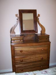 Nifty Mirror by Antique Brown Wooden Dresser With Drawers And Small Mirror In