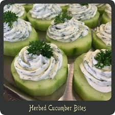 herbed cucumber bites u2014perfect for showers cocktail parties or