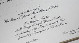 royal wedding invitation key difference between william and kate s wedding invitation and