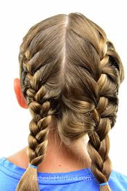 plait at back of head hairstyle how to get a tight french braid babes in hairland