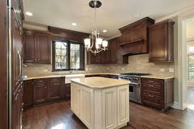 2 Tone Kitchen Cabinets by Brown Kitchen Cabinets Modification For A Stunning Kitchen