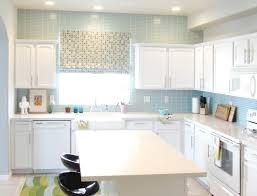 appliances calm modern kitchen design with pastel blue tile