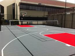 indoor and outdoor athletic flooring sport court construction in