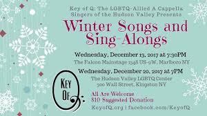 key of q presents winter songs and sing alongs kingston big