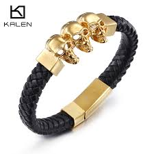 stainless steel gold plated bracelet images 2016 kalen punk jewelry 316 stainless steel 18k italy gold plated jpg