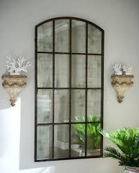 Ideas Design For Arched Window Mirror Rustic Bathroom Mirrors Distressed Wood Mirror Bathroom Brown