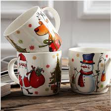 2015 top grade ceramic christmas mugs 400ml santa claus christmas