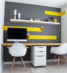 Designer Shelves Energize Your Workspace 30 Home Offices With Yellow Radiance