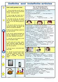 16 free esl definite and indefinite articles worksheets