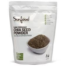 sunfood chia seed powder raw organic 1 lb 454 g iherb com