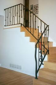 interior stunning home interior look using black metal staircase