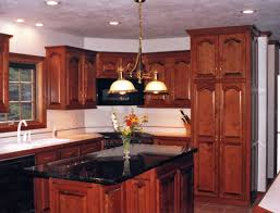 endearing l shape cherry kitchen islands come with brown cherry
