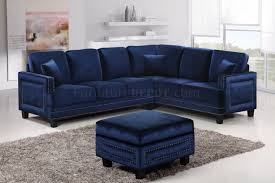 ferrara 655 sectional sofa in navy velvet fabric w options