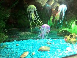 5 5 glowing effect artificial jellyfish fish tank aquarium